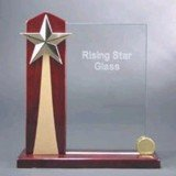 Rising Star Acrylic Award with Piano Finish Base