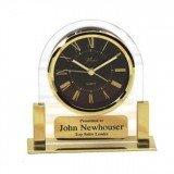 Gold Brass Clock 5 1/4