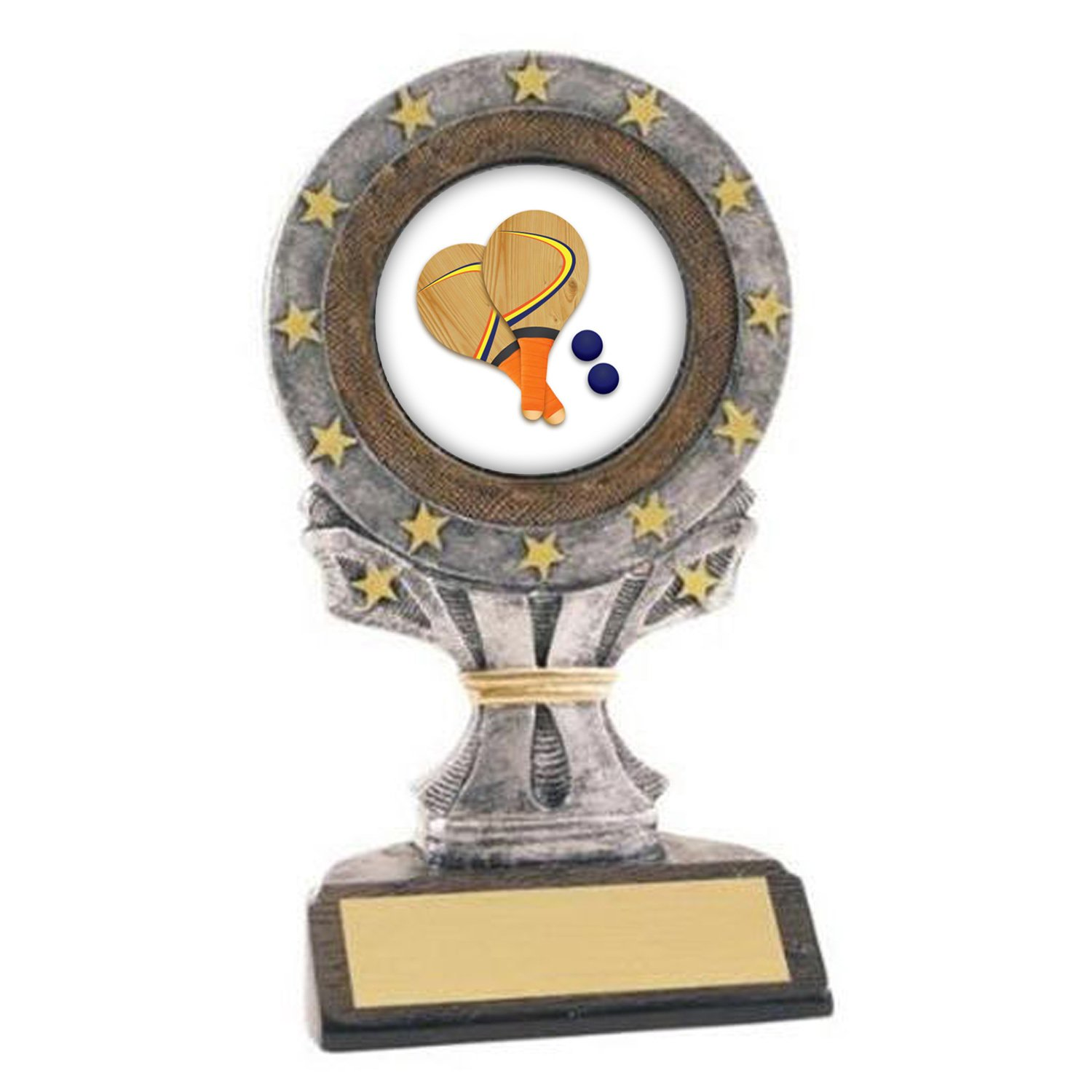 All Star Resin Paddle Ball Trophy