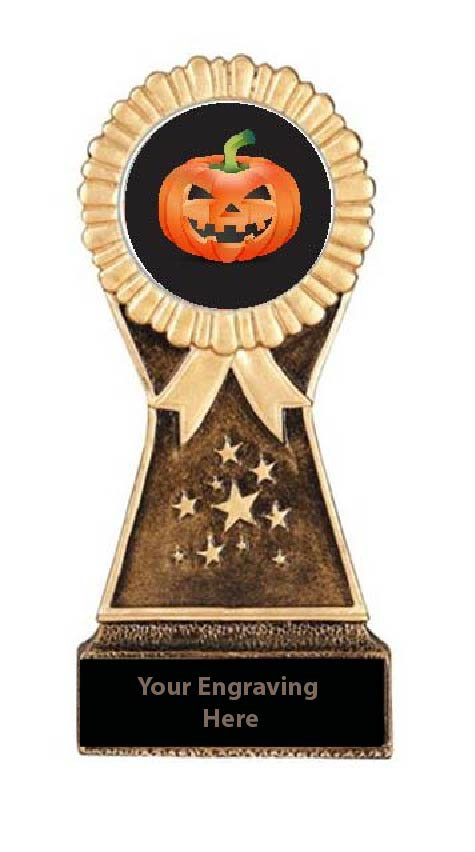 Resin Stand Halloween Pumpkin Carving  Trophies