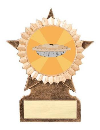 Best Thanksgiving Pie Star Stand Trophy