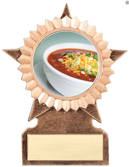 Chili Bowl Cook Off Star Stand Trophy