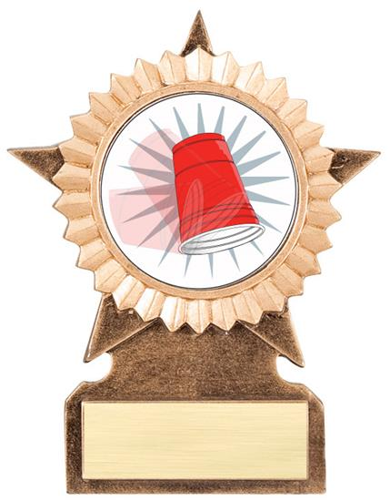 Flip Cup Star Stand Trophy