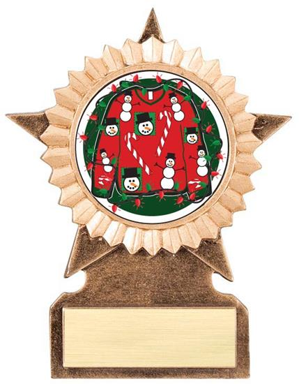 Ugly Christmas Sweater Star Stand Trophy