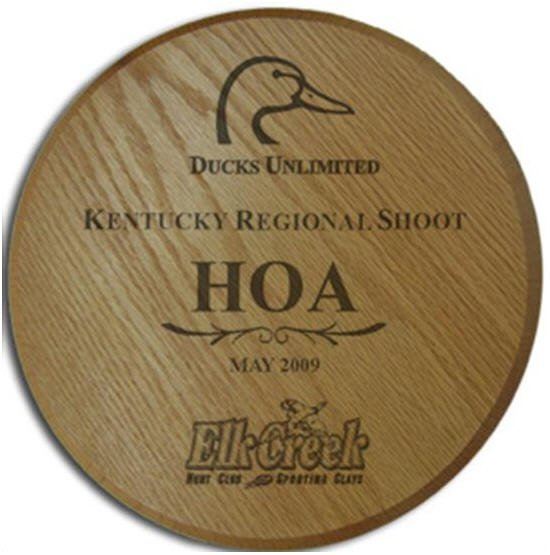 Round Oak Plaque