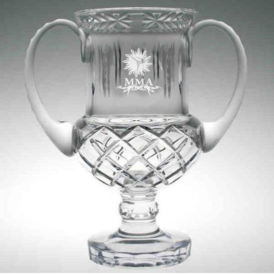 Mixed Martial Arts Crystal Award Cup