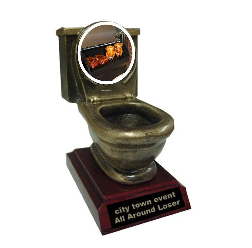 BBQ Smoker Resin Toilet Trophy