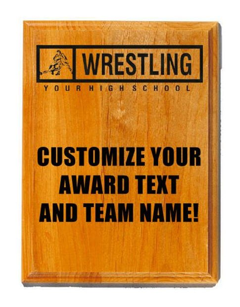 Wrestling Sand Oak Plaque