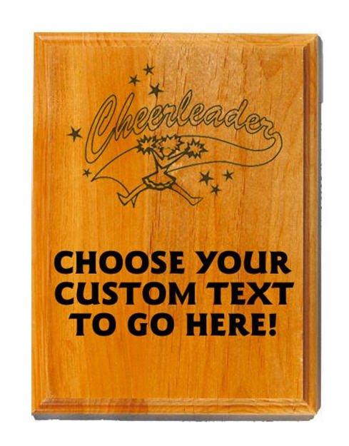 Cheerleading Sand Oak Plaque