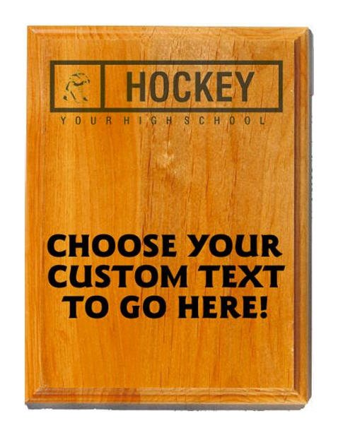Hockey Sand Oak Plaque