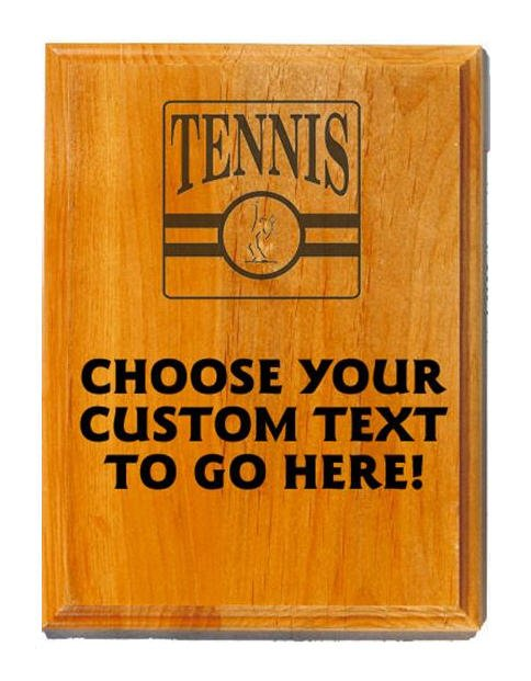 Tennis Sand Oak Plaque