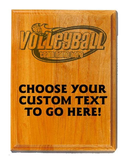 Volleyball Sand Oak Plaque