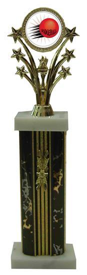 Star Column Dodgeball Trophies