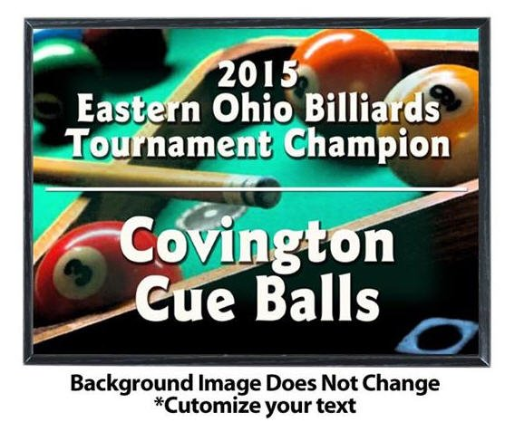Billiards Sublimated Plaque