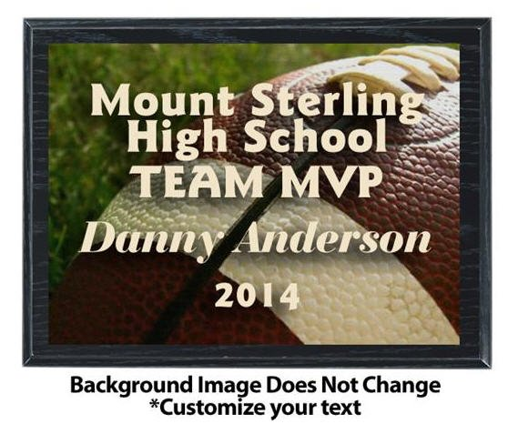 Football Sublimated Plaque