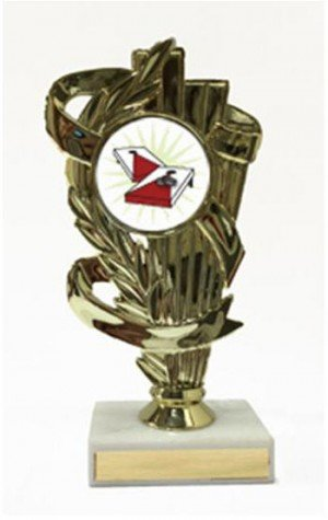 Corn Hole Illustration Trophy