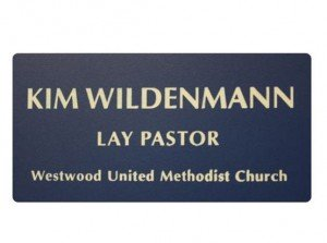 Name Tags Blue on White With Round Corners