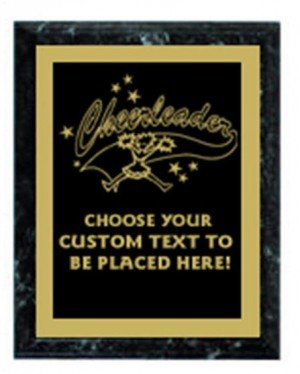 Cheerleading Black Marble Plaque