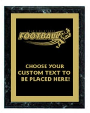 Football Black Marble Plaque