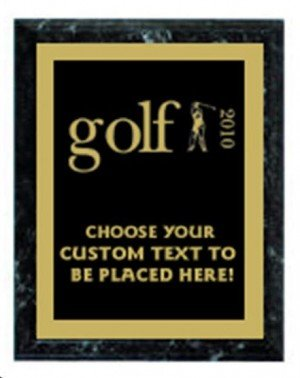 Golf Black Marble Plaque
