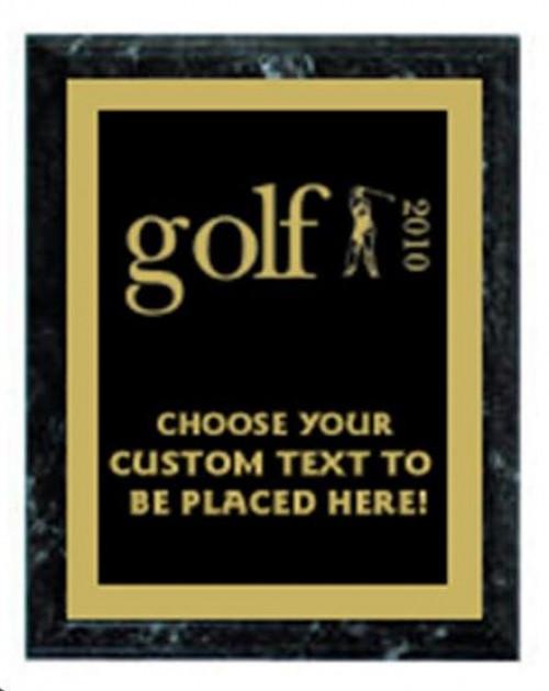 Golf Black Marble Plaque