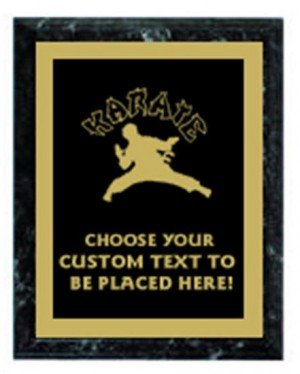 Karate Black Marble Plaque