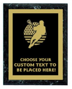 Lacrosse Black Marble Plaque