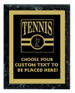 Tennis Black Marble Plaque