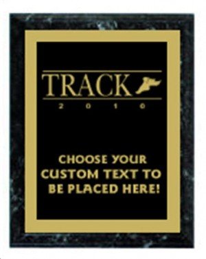 Track Black Marble Plaque