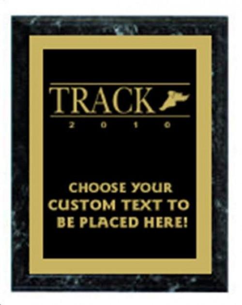 Track Black Marble Plaque