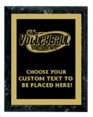 Volleyball Black Marble Plaque