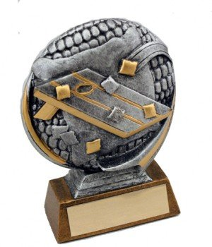 Corn Hole Resin Trophy
