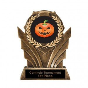 Halloween Pumpkin Carving Victory Resin Trophy