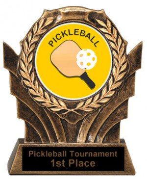 Pickleball Trophies Victory Resin