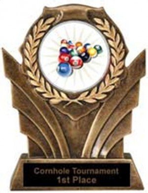 Billiards Victory Resin Trophy 2
