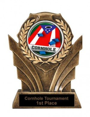 Cornhole Victory Resin Trophy