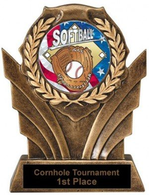 Softball Victory Resin Trophy