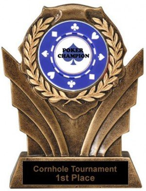Poker Victory Resin Trophy