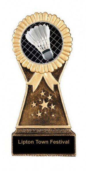 Resin Stand Badminton Trophies
