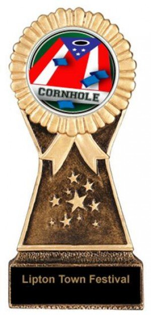 Cornhole Resin Stand Trophy