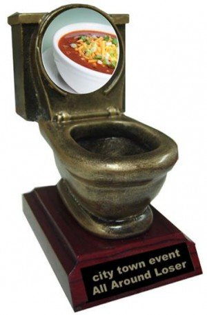 Resin Chili Bowl Cook Off Toilet Trophy