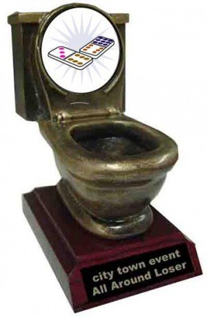 Resin Dominoes Toilet Trophy