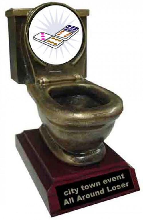 Resin Dominoes Toilet Trophy
