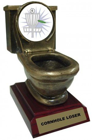 Resin Frisbee Golf Toilet Trophy