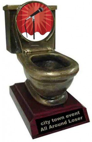 Resin Karaoke Toilet Trophy