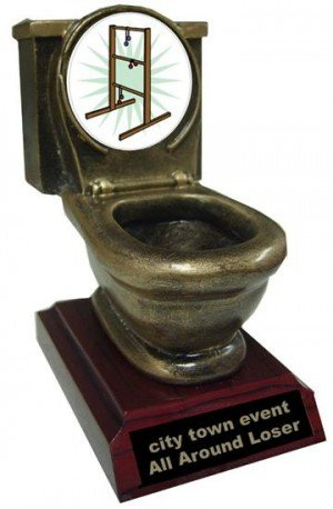 Resin Ladder-golf Toilet Trophy