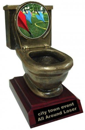Resin Lawn Dart Toilet Trophy