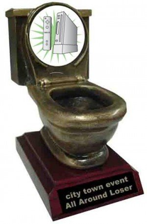 Resin Wii Toilet Trophy