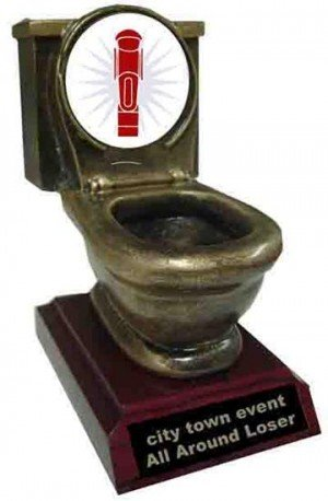 Foos Ball Toilet Trophy