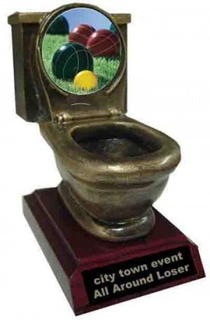 Bocce Ball Toilet Trophy
